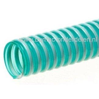 Aanzuigslang 1/2 Inch - 13 mm Gemaakt van Weerbestendig Kunstof met zeer Sterke - Harde PVC Spiraal  voor Tuinpomp, Hydrofoor, Beregenings Installatie, Waterpomp, Besproeiingspomp  Prijs per Meter