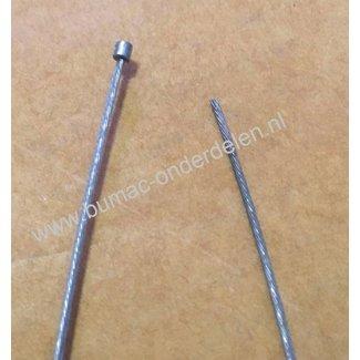 Flexibele Kabel met Ton Ø 3,5 mm x 3 mm Lengte 2500 mm - Ø 1,2 mm Binnenkabel als Gaskabel, Koppelingskabel voor Grasmaaier, Kooimaaier, Bosmaaier, Verticuteermachine