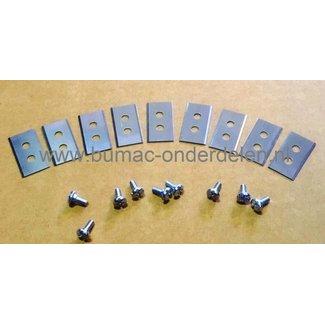 Messenset 9 Stuks voor Robotmaaier van WORX LANDROID M1000, WG754E, WG791E.1, WG791E, WG794E, WG793E.1, WG793E, WG795E Maairobot Messet met Schroeven, Maaimes Automatische Grasmaaier