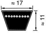 V-Snaar voor Aandrijving van Zitmaaiers - Frontmaaiers, 17x1900 B75