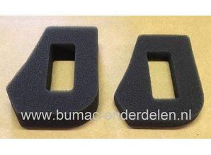 Luchtfilter voor McCulloch M40-110 Classic Grasmaaier, Schuimfilter onder andere voor Mc Culloch M40110 Classic Maaiers  Onder en Boven en Onder Filte