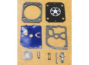 Carburateur Reparatie set voor Stihl Bosmaaier, Bladblazer BG55, BG56, BG66, BG86, FC56, FC70, FS40, FS50, FS56, FS70, HT56, KM56, SH56, SH86  met een Zama C1M-S141 Carburator, Membraanset, Dichting, Pakking set