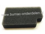 Luchtfilter voor McCulloch en Flymo Bladblazer Schuimfilter voor XLB325, GB320, GBV325, MAC GVB325, M320, M325 Bladblazer, Bladzuiger Blower
