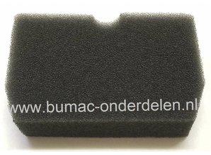 Luchtfilter voor Husqvarna - Jonsered Bosmaaier, Trimmer, Motorzeis Schuimfilter voor Husqvarna 343, 343F, 343FR, 343FRM, 343R, 345FX, 345FXT, 345R, 345RX, Jonsered BC2145, CC2145, FC2145, FC2145S, FC2145W  Lengte 90 mm Breedte 58 mm Hoogte 20 mm