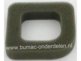 Luchtfilter voor McCulloch TIVOLI 45-60, HC45, HC60, SH45 Heggeschaar, Haagschaar Schuimfilter voor TIVOLI 45-60, HC 45, HC 60, SH 45 Heggenschaar