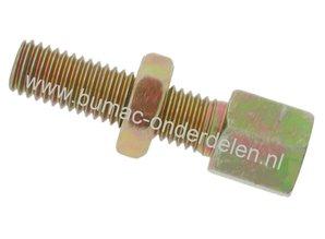 Stelschroef M5 x 0,8 Spanbout, Regelschroef, Set van 4 Stelschroeven draad M5 x 0,8 mm voor Kabel t/m Ø 2,5 mm