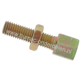 Stelschroef M6 x 1,00 Spanbout, Regelschroef, Set van 4 Stelschroeven draad M6 x 1,00 mm voor Kabel t/m Ø 3 mm