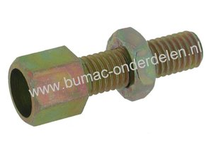 Stelschroef M8 x 1,25 Spanbout, Regelschroef, Set van 4 Stelschroeven draad M8 x 1,25 mm voor Kabel t/m Ø 4 mm