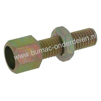 Stelschroef M10 x 1,5 Spanbout, Regelschroef, Set van 4 Stelschroeven draad M10 x 1,5 mm voor Kabel t/m Ø 4,5 mm