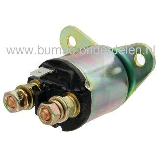 Startrelais voor Loncin G240FD, G270FD, G340FD, G390FD, G420FD, LC185FDS, LC188FD, LC190FDS, LCT Motoren met Horizontale Krukas op Tuinfrees, Trilplaat, Aggregaat, Waterpomp, Generator, LONCIN Solenoid, Magneetschakelaar voor Loncin Motoren