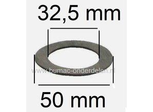 Fiberring voor Monteren van Maaimes bij Wolf - MTD Grasmaaiers Frictieschijf 32,5x50x1,5 mm