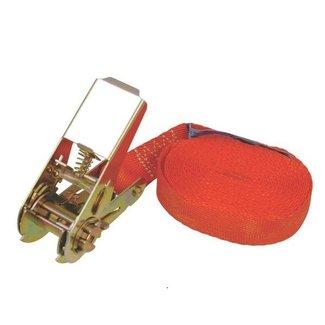 Degelijke Spanband - Sjorband voor het vastzetten van de Lading zoals Grasmaaiers - Zitmaaiers - Frontmaaiers - Quads - ATV