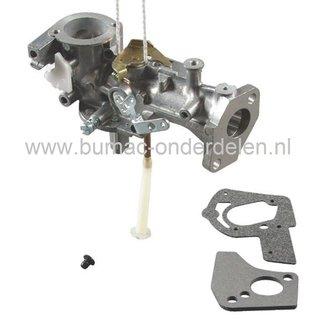Carburateur voor Briggs and Stratton Motoren met 2 - 5 PK en een Horizontale Krukas op Generator, Trilplaat, Kooimaaier, Houtversnipperaar, Waterpomp, Tuinfrees, Aggregaat, B&S, B en S