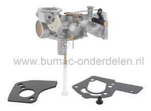 Carburateur voor B&S Motoren met 5 Pk en Horizontale Krukas op Kooimaaier, Aggregaat, Kantensnijder, Generator, Houtversnipperaar, Verticuteermachine,  Bladblazer Carburator