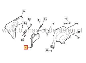 Zijuitworpklep - Deflector voor Castelgarden, Stiga, Mountfield, Alpina Zitmaaiers met 66 Cm Maaidek, GGP Mulchplug Afsluiter