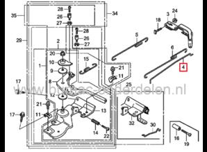 Regulateurstang voor Honda GX140, GX160, GX200 Motor op Generator, Trilplaat, Aggregaat, Kooimaaier, Verticuteermachine, Veegmachine, Tuinfrees