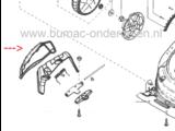 Zijklep voor Alko, Solo, Brill Grasmaaier, Klep onder andere voor Highline 525 SP, 525 SP-A, 526 VSI Grasmachine
