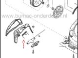 Veer voor Zijklep van Alko, Solo en Brill Grasmaaier Highline 525 SP, 525 SP-A, 526 VSI, 51.6 SP Plus Grasmachine Veer voor Zijuitworpklep