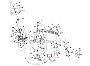 Stuurstang voor Husqvarna, Craftsman, Jonsered, Partner Zitmaaier, Tuintrekker Stuur Stang onder andere voor CTH184T, CTH194T, CTH224T, LTH2038R, LTH2142, YT42CS Maaiers