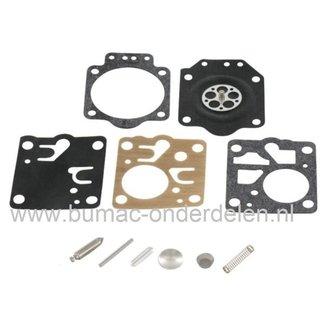 Membraan Reparatieset voor Zama RB15 Carburateur op Kettingzaag, Bosmaaier, Heggenschaar, Bladblazer, Strimmer Zama Carburator Membraanset RB 15