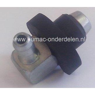 Fitting met Afdichtingsrubber voor Benzineslang van 6.35 mm, Stiga Villa - Stiga Ready - Bolens - MTD - Castelgarden - Mountfield - Husqvarna - Wolf, Zitmaaier - Frontmaaier