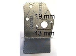 Inlaatpakking voor Loncin LC1P61FA, LC1P65FA, LC1P68FA, LC1P70F, LC1P70FA Motor op Grasmachine, Veegmachine, Tuinfrees, Carburateur Dichting, Hitteschild LC 1P61 FA, LC 1P65 FA, LC 1P68 FA, LC 1P70 F, LC 1P70 FA