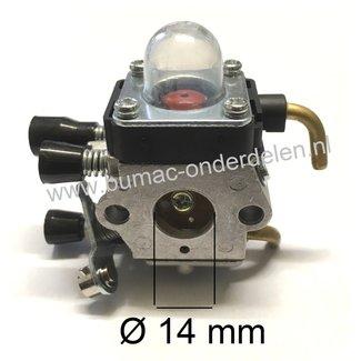 Carburateur voor Stihl FS38, FS45, FS46, FS55, FS55C, FS55R Trimmer, Bosmaaier Carburator FS 38, FS 45, FS 46, FS 55, FS 55 C, FS 55 R