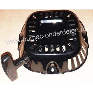 Handstarter met Stalen Behuizing voor Loncin - G200FD  motoren  Startmechanisme met 2 ronde Stalen Startpallen,  Startmechanisme voor Motoren op Grasmaaiers, Trilplaten, Generatoren, Kooimaaiers, Houtversnipperaars, Waterpompen, Compressoren, Bladblazers,
