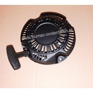 Complete Handstarter voor Robin Motor met kunststoffen startpallen in een stalen behuizing voor ROBIN Motoren Modellen EX17, EH2-2, EH122D, EX13, SP170, PKX201, PKX201ST, PKX301, PKX301ST, RGX2900, SRV65/66/70 Startmechanisme voor Motoren op Grasmaaiers,