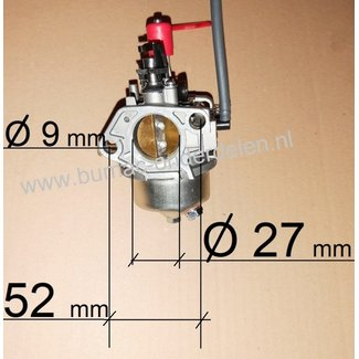 Carburateur voor Loncin  LC1854, LC190FDS voor o.a Grasmaaiers