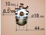 Complete Carburateur voor EC10 Motor op Grasmaaiers, Aggregaten, Trilplaten, Gazonmaaiers, Generatoren, e.d. van ROBIN/SUBARU model:  EC 10
