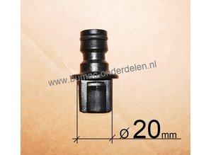 Universele  Nippel Maaidek  Wateraansluiting Ø 20 mm voor Zit en Loopmaaiers