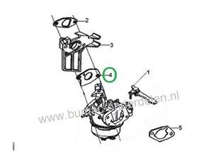 Inlaat pakking voor Loncin G240F, G240FD, G270F, G270FD Carburateurflenspakking  voor motoren met een horizontale krukas op  Generatoren, Grasmaaiers, Golfbaanmachines, Tuinfrezen, Trilplaten, Verticuteermachines, Waterpompen e.d.
