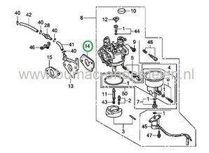 LONCIN Inlaatpakking voor o.a.  390F, G390FD, G420F, G420FD, LC185FDS, LC190FDS  Motor op Aggregaat- Generator - Kantensnijder - Kart - Trilplaat -Tuinfrees - Waterpomp