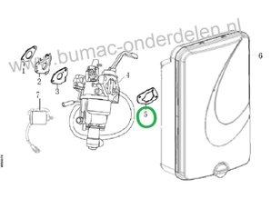 Pakking voor filterflens LONCIN:  LC175FDS, LC185FDS, LC190FDS Motoren op Grasmaaier, Veger, Frees, Verticuteermachine e.d