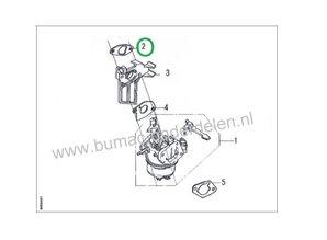 Pakking voor isolator op o.a.  G160F, G200F, G200FD, LC168F-1, LC168F-2, LC168F-2, LC1P61FA, LC1P65FA, LC1P68FA, LC1P70FA, LC1P70F tussen Carburateur en Cilinder Pakking voor LONCIN Motoren op Aggregaat, Generator, Golfbaanmachines, Veegmachine, Houtversn