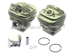 Cilinderset voor Stihl 034 - 036 - MS360, Kettingzaag - Motorzaag, Cilinder met Zuiger en Veren Compleet, Cilinder met Boring voor Decompressieklep