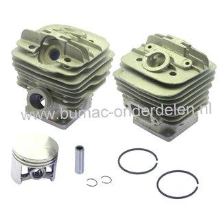 Cilinderset Ø 48 mm voor Stihl 034 - 036 - MS360, Kettingzaag - Motorzaag, Cilinder met Zuiger en Veren Compleet, Cilinder met Boring voor Decompressieklep