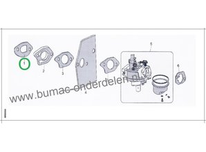 Pakking voor Isolator van LONCIN LC1P61FA, LC1P65FA Motoren op Loopmaaiers, Cirkelmaaiers, Grasmaaiers, Benzinemaaiers