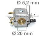 Carburateur voor Husqvarna - Jonsered Kettingzagen - Motorzagen Carburateur o.a.  voor HUSQVARNA model:362, 362 XP SPECIAL, 362 XP, SPECIAL EPA, 365 H, 372 XP`, Jonsered model: 2163, 2171, CS2163, CS2165, CS2171