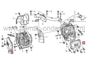 Klepdeksel voor Honda GCV520, GCV530, GXV520 en GXV530 Motoren op Zitmaaiers, Frontmaaiers, Tuintrekkers, HONDA Cilinderkopdeksel voor GCV 520, GCV 530, GXV 520, GXV 530 Motor, Kleppendeksel, Honda Motordelen
