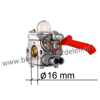 Carburateur voor Stiga, Castelgarden, Alpina, Mountfield, ABR42, ABR242D, B42, B42D, CB142, EP420G, OKAY4516MS, SBC242, SBC242D, SBC243D, TB422, XB242D  Bosmaaier, Trimmer, Strimmer
