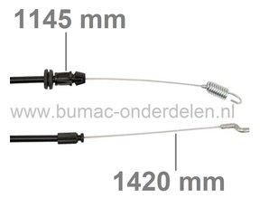 Kabel Rijaandrijving voor Castelgarden, Stiga, Alpina, Mountfield Grasmaaiers, Aandrijfkabel voor de Wielen bij STIGA L53SHQ, ML535SHQ, MLMP161B&S, PG53HT, RMB1051, Turbo 48 SB/SBW Plus B/SH/SEB/SEVQB, Turbo 53 SB/SBW Plus/SH/S4QH/SE4QB, XS48HS, XS53HS/HS