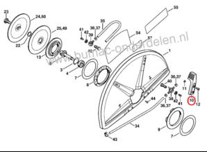 Verstelhefboom voor Stihl, Bandenzaag, Doorslijper, Motorzaag TS700, TS800
