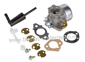 Carburateur voor B&S Motor met Horizontale Krukas op Aggregaat, Verticuteermachine, Trilplaat, Tuinfrees, Waterpomp, Generator, Kooimaaier, Kantensnijder Carburator Briggs and Stratton