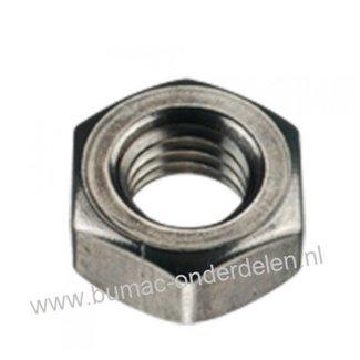 Zeskantmoer  staal verzinkt, Schroefdraad M4x0.7, Sleutelmaat: 7, Hoogte: 3,2 mm, Klasse 8.8
