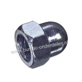 Zeskant Dopmoer, hoog model Schroefdraad M5 x 0,8, Draad diameter M5, Sleutelmaat 8 mm, Hoogte 4 mm