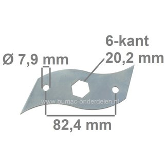 Verticuteermes 152 mm voor Einhell, Klippo, Marina, Partner Verticuteermachines, RG-SA1433, RE4038PH, M1738E, M3538P, P3538P, P4038P-H, MX390H, 5390, 5390B, C390E, Mes voor Vertikuteermachines, Vertikuteermes