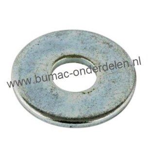 Carrosseriering M10 verzinkt, vlakke sluitring met grote buitendiameter, Binnendiameter: 10,5 mm, Buitendiameter: 29,7 mm, Dikte: 2,6 mm