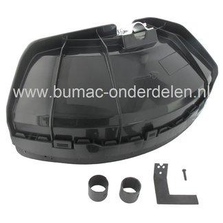 Kunststof Beschermkap voor Bosmaaiers met Steel Ø 24, 26 en 28 mm, Beschermingskap Universeel voor Bermmaaiers, Trimmers, Strimmers